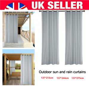 details about outdoor waterproof fabric blackout curtains for pergola patio balcony privacy