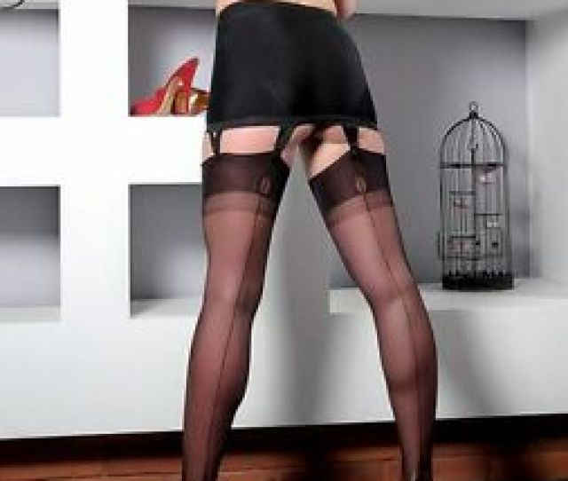 Image Is Loading Gio Fully Fashioned Point Heel Seamed Stockings Nylons