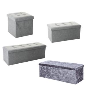 details about ottoman large storage chest box storage bedroom living room grey black beige