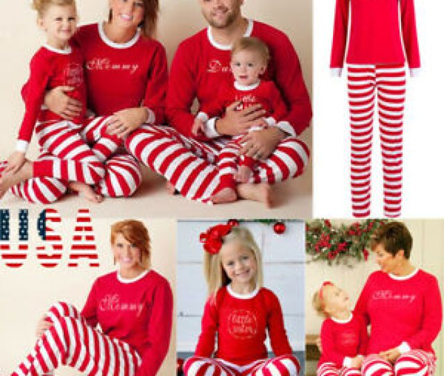 Image Is Loading Christmas Family Matching Pajamas Set Adult Mens Womens