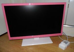 details sur televiseur tv led rose et blanche schaub lorenz ld215 fhd ecran 21 5 54 6cm
