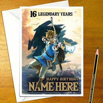 Breath Of The Wild Personalised Birthday Card Legend Personalized Zelda Link Ebay