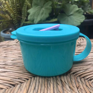 details about tupperware crystalwave soup mug microwavable mug w spout