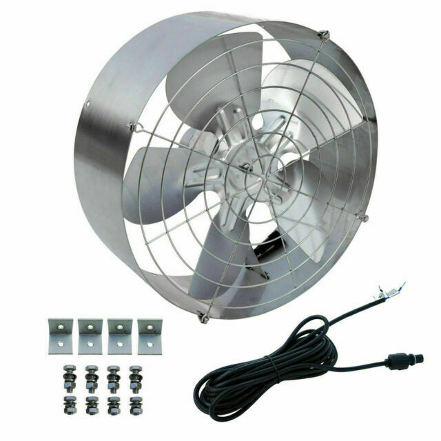 eco worthy 65w exhaust duct booster high flow fan silver l07sv65 1