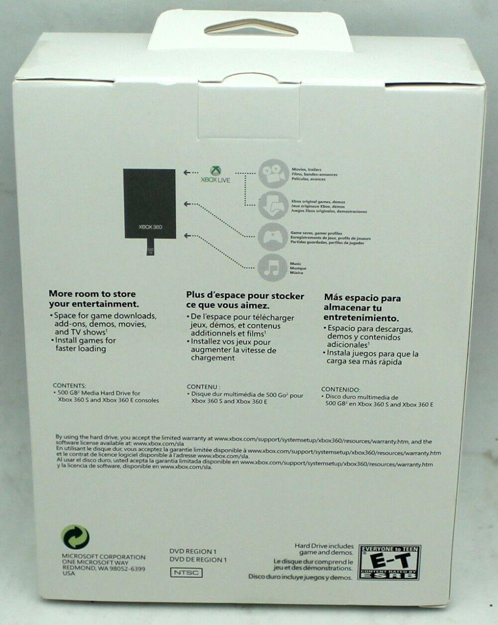 X360 Harddrive 500GB Back