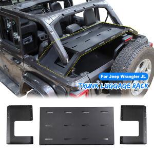 details about rear cargo basket rack luggage storage carrier for jeep wrangler jk jl 2007 2019