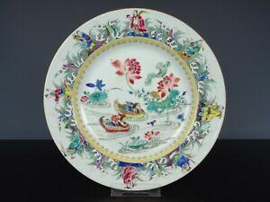 Rare Beautiful Chinese Porcelain Fencai Plate-Eight Immortals-18th C. Yongzheng!