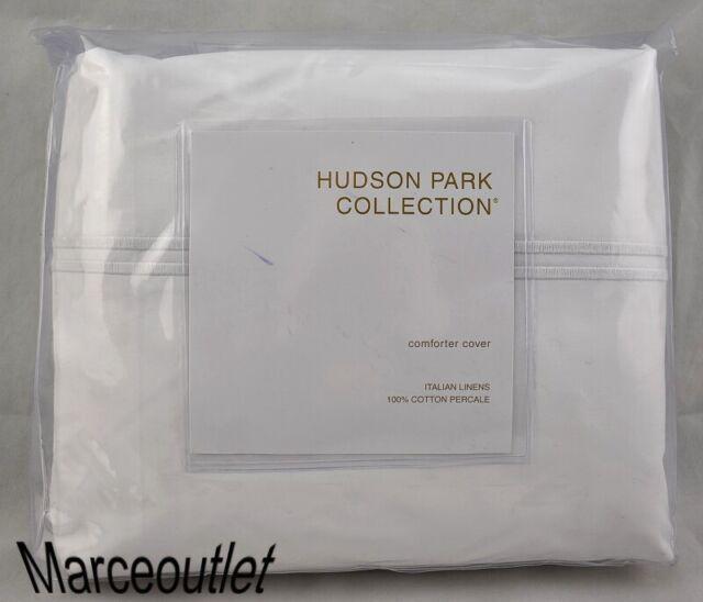 Hudson Park Italian Percale King Duvet Cover White White Bedding Home Kitchen Brilliantpala Org