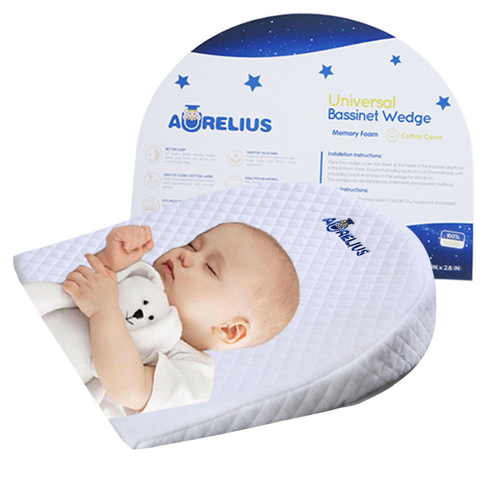 aurelius waterproof baby sleep pillow wedge anti reflux colic congestion