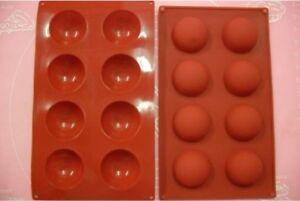 details sur moule silicone souple 8 petits fours demi sphere 27 x 16 cm