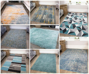 Modern Moroccan Duck Egg Blue Living Room Rugs Soft Non Shed Warm Shaggy Rug Uk Ebay
