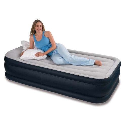 Inflatable High Raised Single Air Bed Mattress Airbed W Built In Electric Dn00 Ebay
