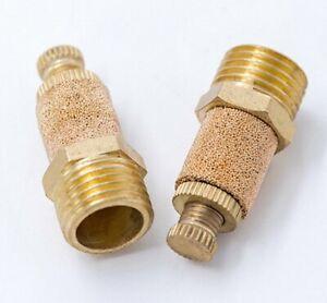 details about 5pcs pneumatic brass flow control silencer npt 3 8 air exhaust muffler fitting