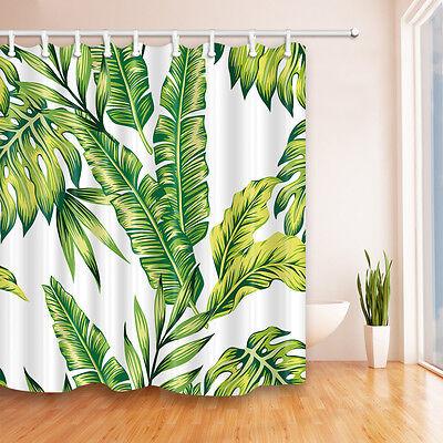 72x72 banana leaf shower curtain tropical jungle martinique green palm w hooks ebay