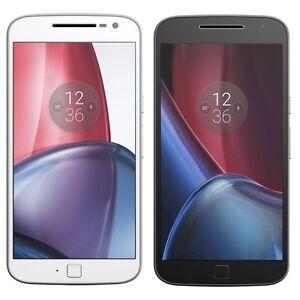 """Motorola Moto G4 Plus XT1642 Dual Sim 32GB (FACTORY UNLOCKED) 5.5"""" Black White"""