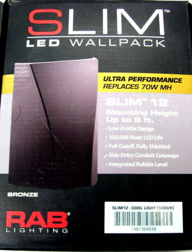 building materials supplies rab slim12 heavy duty bracket mount wallpack 12 watt 120 277 volt polyester lights lighting