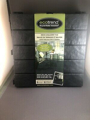 multy home deck and balcony tile 12x12 1 pack of 6 total squares recycled new ebay