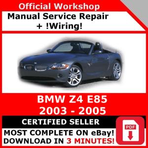 # FACTORY WORKSHOP SERVICE REPAIR MANUAL BMW Z4 E85 2003