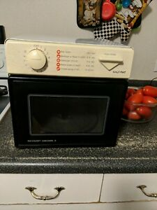 details about sharp half pint carousel ii r 1m53 compact microwave oven 5 cu ft 120v 8a