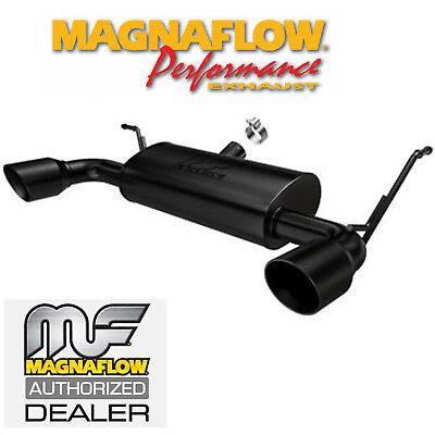 magnaflow axle back dual exhaust system jeep wrangler jk 3 6l black 15160 ebay
