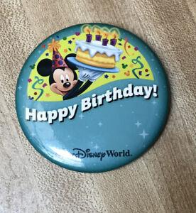 Walt Disney World Parques De Disney Feliz Cumpleanos Boton Mickey Mouse 3 Pin Ebay