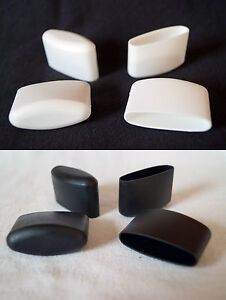 details sur lot de 4 embouts protection pieds 41 x 16mm noir blanc pour chaise capuchons