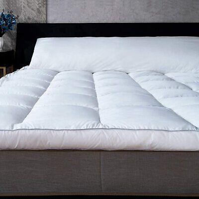 marine moon mattress topper twin plush pillow top hotel quality down alternative ebay