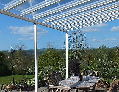 aluminium canopy carport patio cover glass clear 1 5m 3 5m projection ebay
