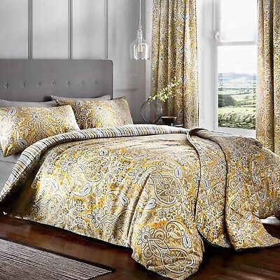 maduri ochre and grey duvet cover sets with matching curtains to buy separate ebay