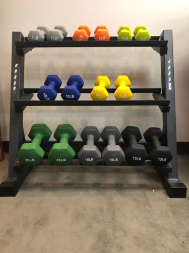 marcy 3 tier dumbbell weight rack dbr86
