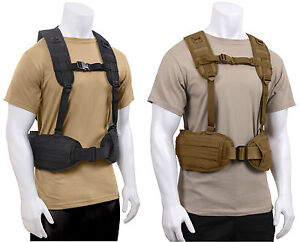 Tactical Load Bearing Battle Belt Harness Military Molle