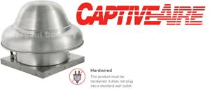 details about captiveaire dr33 floaire down blast exhaust fan 1400cfm 1 3 hp for 3 5 hood