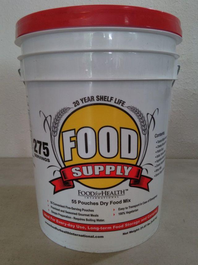 275 Servings 30Day Food Storage Emergency Supply Bucket Rations Kit Survival mre 2