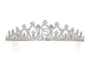 Quinceanera 15 Birthday Party Pageant Rhinestone Crystal Crown Tiara 8942 28672902903 Ebay