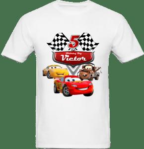 Disney Cars Birthday Boy Shirt Lightning Mcqueen Custom Personalized Shirts Ebay