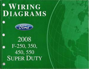 2008 Ford F250 F350 F450 F550 Factory Wiring Diagram Scehmatics Manual   eBay
