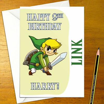 Wind Waker Link Personalised Birthday Card Large A5 Zelda Legend Triforce Ebay
