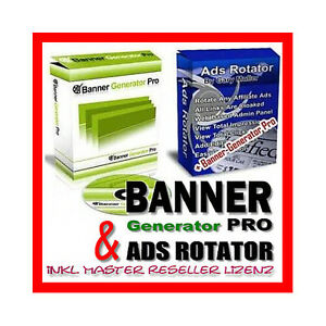 Banner Generator PRO & ADS Rotator - inklusive Master Reseller Lizenz