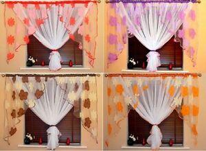 details sur incroyable voile rideaux 6 couleurs organza blanc rouge orange marron violet bleu afficher le titre d origine
