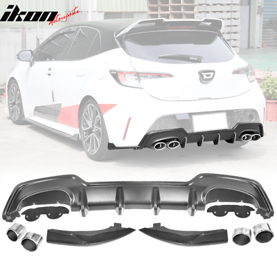 fits 19 20 toyota corolla e210 hatchback 5dr rear diffuser dual exhaust tip ebay