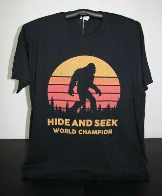 Hide And Seek World Champion Bigfoot T Shirt 2xl Black Ebay