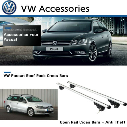 vehicle parts accessories fits up to 2015 model roof rack easy fit volkswagon vw passat cross bars guidohof