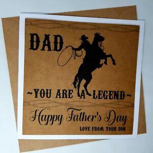 Lolpresent Happy Birthday Card Legend Cowboy Dad Papa Grandad Stepdad Daddy Ebay
