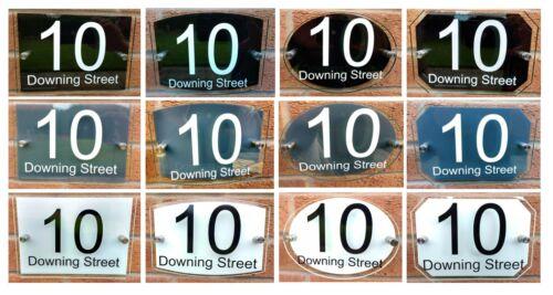 personalised house number sign plaque verre effet 2 panneau acrylique green edge