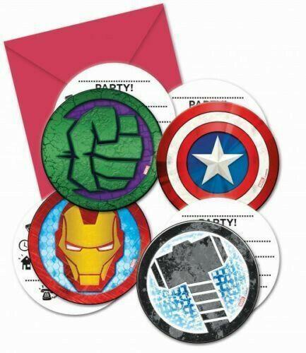 avengers superhero birthday party hulk thor iron man 16 invitations envelopes