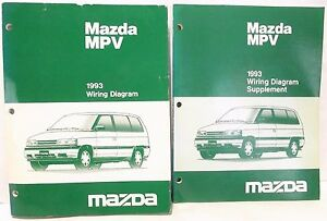 '1993 MAZDA MPV Van WIRING DIAGRAM Schematic Shop Service