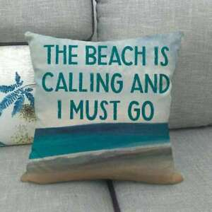 details about beach throw pillow covers nautical decorative holiday summer square cushion case