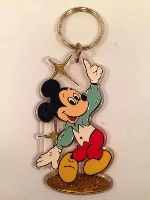 Vintage Disney Enameled Keychain Retro 80s 90s Disco Mickey Mouse Dancing Ebay