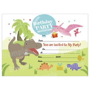kids birthday invitations for boys or
