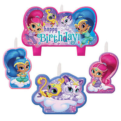 Shimmer And Shine Mini Candles Cake Topper Birthday Party Decoration Supply 4ct 13051660598 Ebay